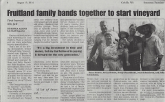 Making the local paper