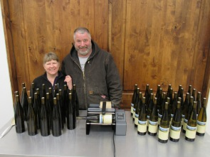Head Winemaker Brian Benson with wife Kathy.